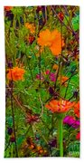 The Summer Flower Party Beach Towel