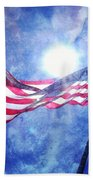 The Sun And The Flag Beach Towel