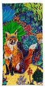 The Sun Fox Beach Towel
