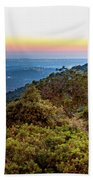 The Sun Of The Evening Of The Mountain And Sea Beach Towel