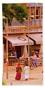 The Tavern On The Plaza - Spain Beach Towel