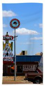 The Tee-pee Curios On Route 66 Nm Beach Towel