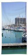 The Tel Aviv Marina  Beach Towel