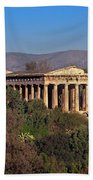 The Temple Of Hephaestus In The Morning, Athens, Greece Beach Towel