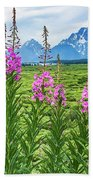 The Tetons Are Grand Beach Towel