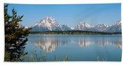 The Tetons On Jackson Lake - Grand Teton National Park Wyoming Beach Sheet