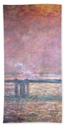 The Thames At Charing Cross Beach Towel