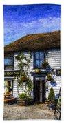 The Theydon Oak Pub Art Beach Towel