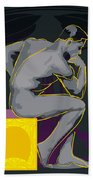 The Thinker - El Pensador Beach Towel