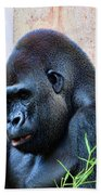 The Thinking Gorilla Beach Towel