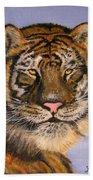 The Tiger, 16x20, Oil, '08 Beach Towel
