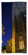 The Tower At Night Beach Towel