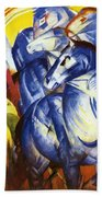 The Tower Of Blue Horses 1913 Beach Towel