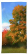 The Transition From Summer To Fall. Beach Towel