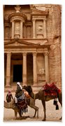 The Treasury Of Petra Beach Towel