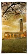 The Tree And The Bell Tower Beach Towel