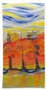 The Trees In Red. Day_march, 28  2015, Nizhny Novgorod, Russia_ Beach Towel