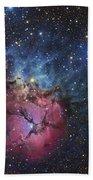 The Trifid Nebula Beach Towel