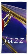 The Trombone Jazz 001 Beach Towel