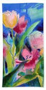 The Tulips Bed Rock Beach Towel