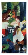 The Turkish Jeweller  Beach Towel by August Macke