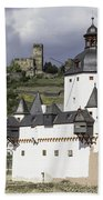 The Two Castles Of Kaub Germany Beach Towel