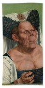The Ugly Duchess, By Quentin Matsys Beach Towel