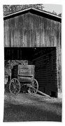 The Undertaker's Wagon Black And White 2 Beach Towel