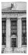 The United States Federal Reserve Bw Beach Towel