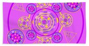 The Universal Spin Of Violet Beach Towel