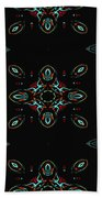 The Universe Display At Night Abstract Beach Towel