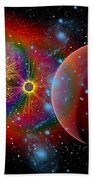 The Universe In A Perpetual State Beach Towel by Mark Stevenson