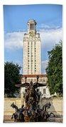 The University Of Texas Tower Beach Towel