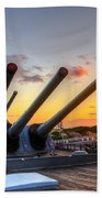 The Uss Missouri's Last Days Beach Towel