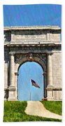 The Valley Forge Arch Beach Towel