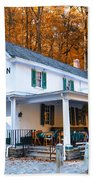 The Valley Green Inn In Autumn Beach Towel by Bill Cannon