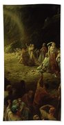 The Valley Of Tears Beach Towel by Gustave Dore
