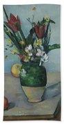 The Vase Of Tulips Beach Towel