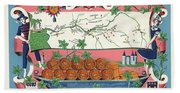 The Vineyards Of France Beach Towel