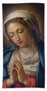 The Virgin At Prayer Beach Towel