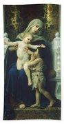 The Virgin Baby Jesus And Saint John The Baptist Beach Towel