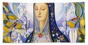 The Virgin,  Joseph Stella Beach Towel