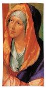 The Virgin Mary In Prayer Beach Towel