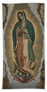 The Virgin Of Guadalupe With The Four Apparitions Beach Sheet