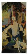 The Virgin Of The Rocks Beach Towel