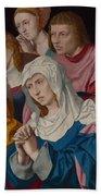 The Virgin Saints And A Holy Woman Beach Towel