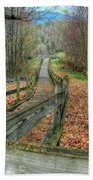 The Walk In The Woods Beach Towel