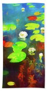 The Water Lily Pond Beach Towel