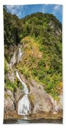 'the Water Of Life' Spring At Doubtful Sound Beach Towel