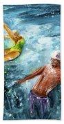The Water Wall Beach Towel